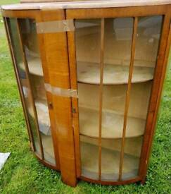 Vintage A fabulous 70s display cabinet