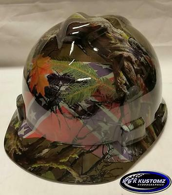 Southern Comfort Pattern Short Brim New Custom Msa V-gard Hard Hat Wfastrac