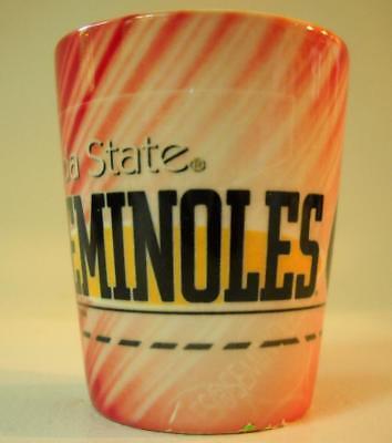 NCAA Florida State University Seminoles Shot Glass New Unused Opague Red