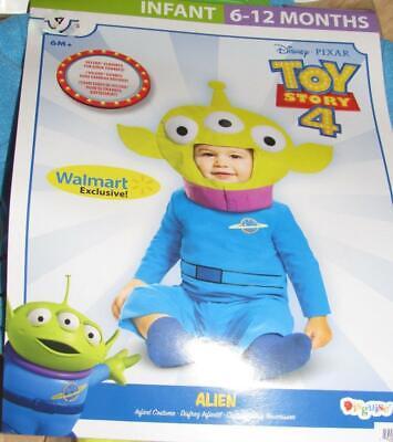 Toy Story 4 Kleiner Grüner Alien Halloween Kostüm Baby Kleinkind 12-18 - Toy Story Aliens Kostüm