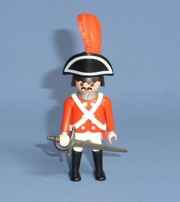 Playmobil Red Coat Captain Pirate & Weapon Figure  for Ship / Battle / Island