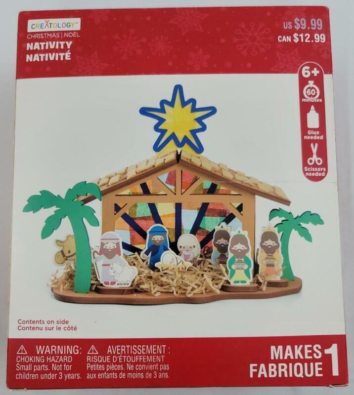 Nativity Scene Christmas Creatology Foam Craft Kit New Makes 1