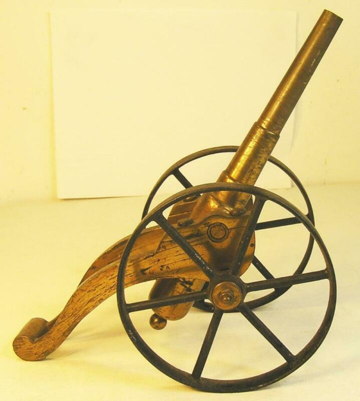 ANTIQUE 1800`S BRASS & STEEL SALUTE & SIGNAL CANNON MILITARY STYLE SUPER EARLY