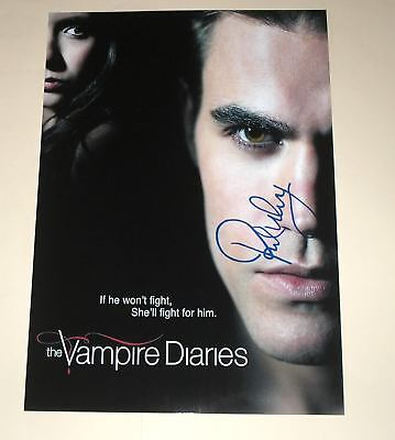 """THE VAMPIRE DIARIES PP SIGNED 12""""X8"""" POSTER PAUL WESLEY"""