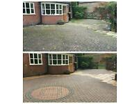 Jet washing cleaning industrial pressure washer.full power pressure washing