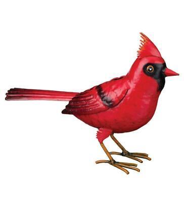 "Cardinal Bird Metal Outdoor Art Decor (6.75"" Tall x 9.5"" Long) Free Shipping"
