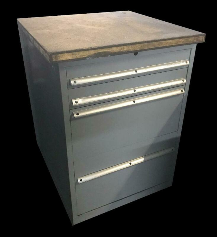 "Stanley Vidmar 4 Drawer Industrial Tool Cabinet 30"" X 27.5"" X 44"""
