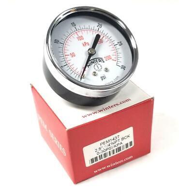 Winters Pem1437 Pressure Gauge 0-30 Psi 2.5 Face 14 Npt 2 Available