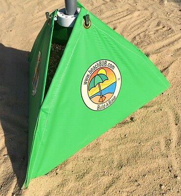 Green BeachBUB New build-a-base Green Beach Umbrella Stand FAST FREE SHIPPING