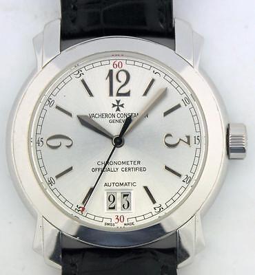18K White Gold Vacheron Constantin Malte Large Calendar Watch Ref 42015