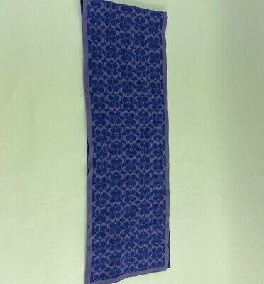 Coach Girls Muffler Blue Signature Logo 100% Merino Wool One Size New