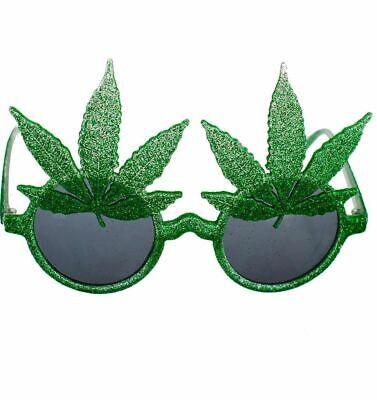 anja Leaf Sunglasses Funny Rasta Mens Weed Joke Fancy Dress (Weed Leaf Kostüm)