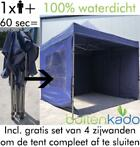 Easy up tent partytent vouwtent easyup marktkraam 3x3 3x4,5