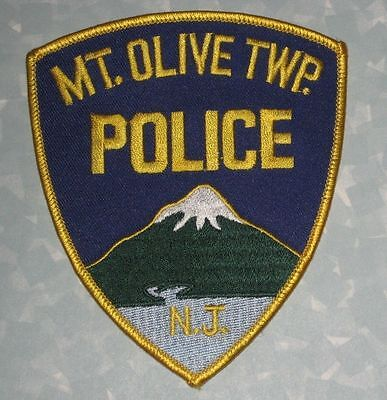 """Mt Olive Twp Police Patch - N.J. - 4"""" x 4 5/8"""" Mount Olive Township, New Jersey"""