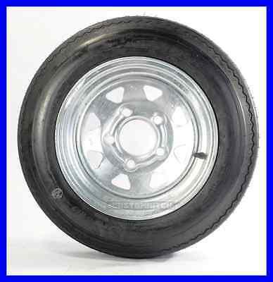 "Trailer Tire + Rim 4.80-12 480-12 4.80X12 12"" LRB 5 Lug Wheel Galvanized Spoke"