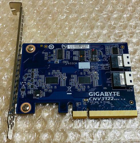 GigaByte U.2 Adapter, 2 x U.2 Ports Gigabyte CNV3122 Gigabyte U2 Controllers