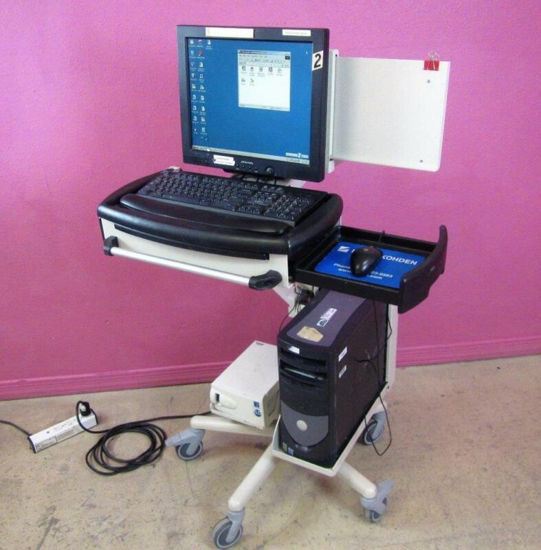 Nihon Kohden Neurofax Diagnostic EEG 9200A PC & Levitator w/ 512 & 9000 Software