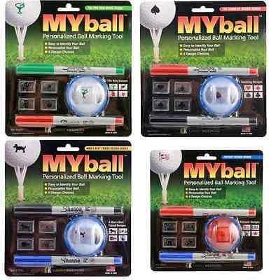 My Ball MyBall Custom Design Multi Color Golf Ball Marker Identifier Template - Multi Color Custom Design