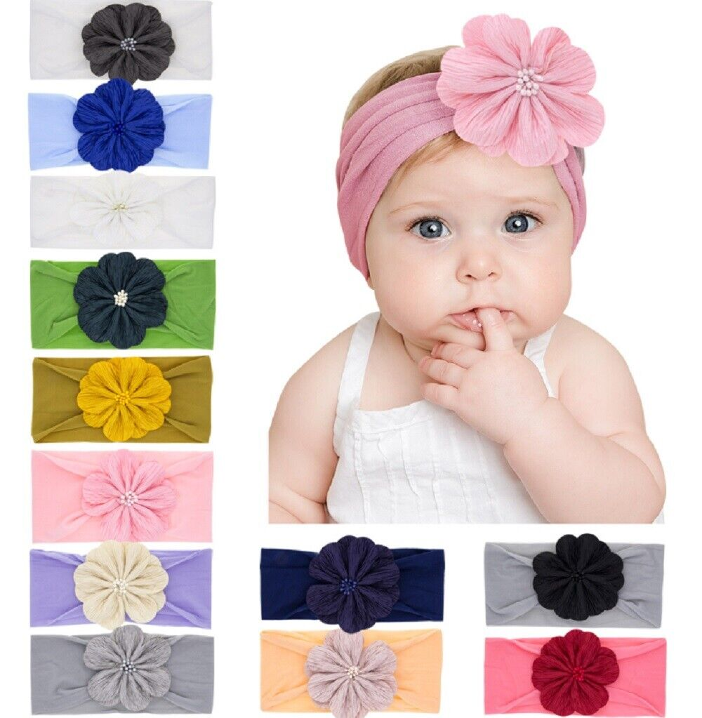 12 Pcs Kids Girl Baby Headband Toddler Lace Bow Flower Hair Band Accessories US Baby