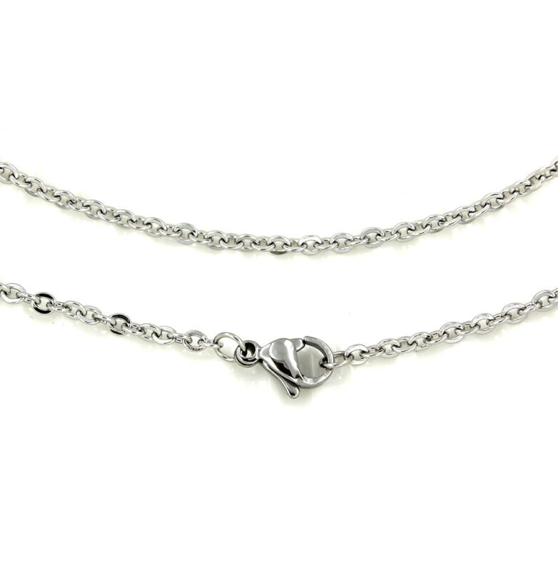 "Stainless Steel Cable Chain Necklace 24"" - 2mm - 1 Necklace - N470"