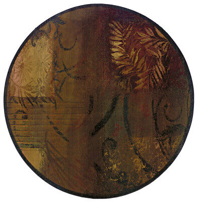 6'x6' Round Sphinx Abstract Brown Leaves Scrolls 1163B Area Rug - Aprx 6' x (1163b Rug)
