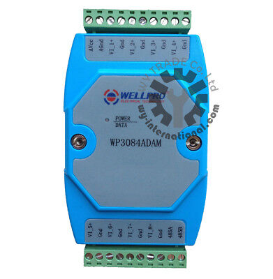 8ch 0-10v Analog Input Module Voltage Collecting Module Rs485 Modbus Wp3084adam