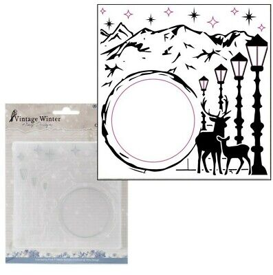 - Vintage Winter Frame Embossing Folder Amy Designs Cut & Emboss Craft Folders