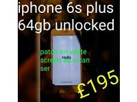 Iphone 6s plus 64gb unlocked No cracks