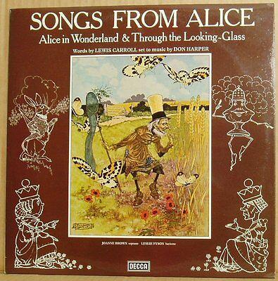 LP Don Harper Songs from Alice Joanne Brown Leslie Fyson... Decca UK 1978 NM rar