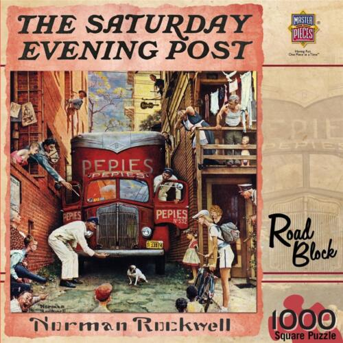 The Saturday Evening Post - Road Block Jigsaw Puzzle 1000 pc Toys