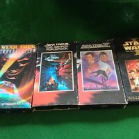 3 STAR TREK AND 1 STAR WARS VHS VIDEO'S