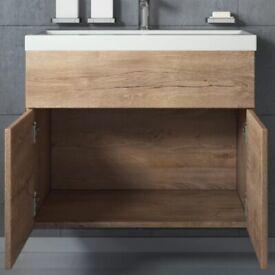 Belfry bathroom, Basin, vanity unit and mirror