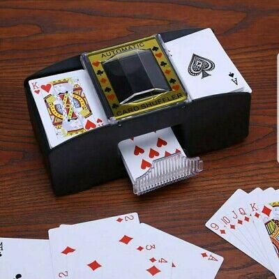 Electric 2 Deck-Automatic-Battery Operated-Casino Playing Card Shuffler Machine