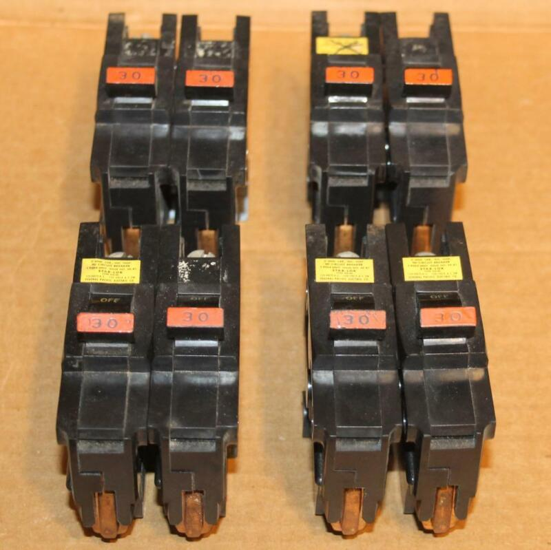 Lot of 2 Federal Pacific 30 Amp 1 Pole NA130 CLEAN Thick Breaker Tested Guarante