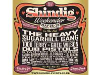 2 Tickets for Shindig Weekender - 26th to 28th May