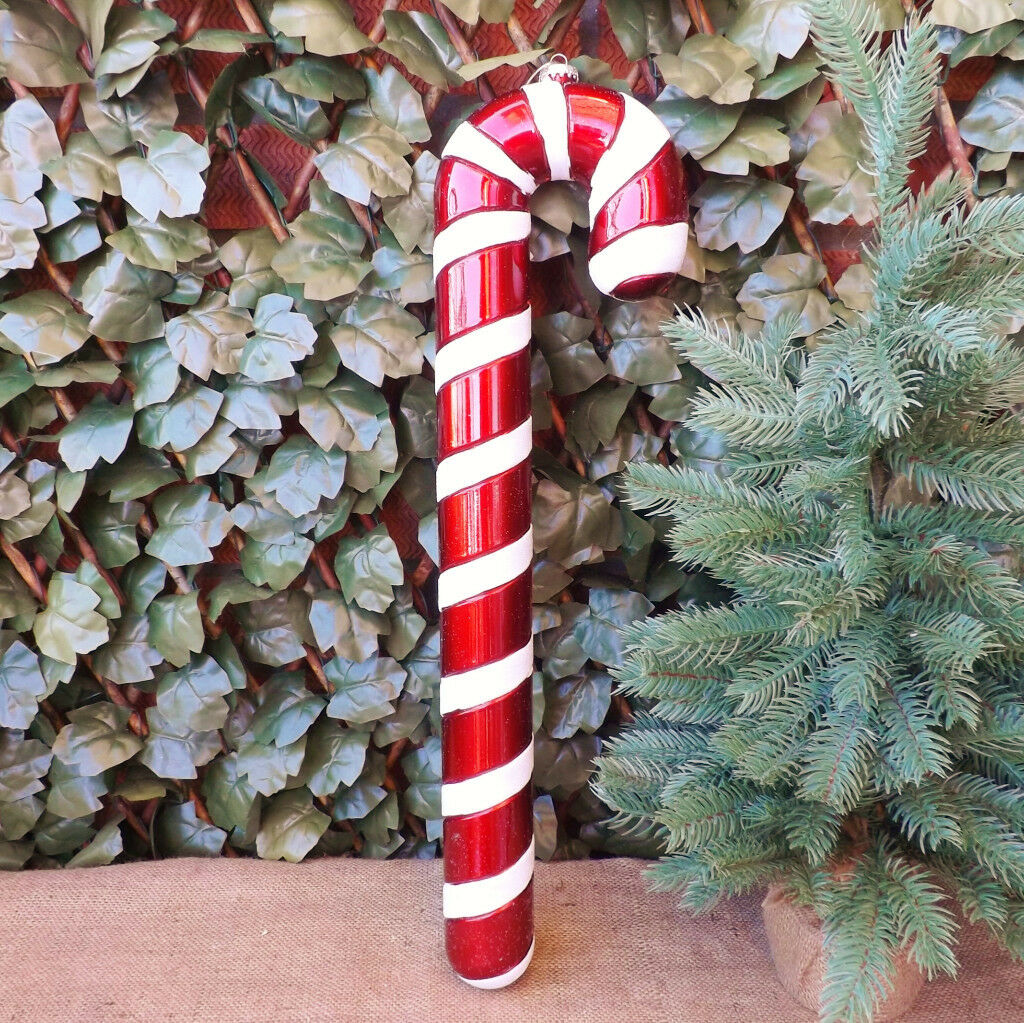 red white 60 cm giant candy cane christmas tree decoration for large tree or display 25 each