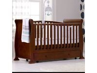 Cot Sleigh Bed With Drawers