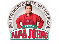 Papa John's Pizza GLENROTHES - In store staff & Delivery Driver/Car Driver
