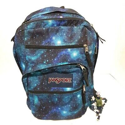 JanSport Big Student Backpack Blue Galaxy Print Square Dual Handle Pockets