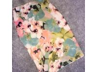 Missguided floral midi skirt