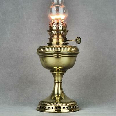 Hinks Coronation Central Draught Kerosene Paraffin Oil Lamp Center Draft Brass