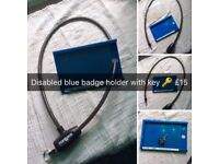 Blue badge protector with key