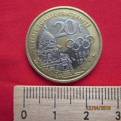 Frankreich - France 20 Francs 1994 - Pierre Coubertin 1863-1937 - I