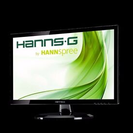 "Hannspree Hanns.G HE247DPB 24"" Black Full HD LED Monitor Boxed As New"