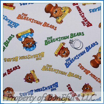 BonEful Fabric FQ Cotton Quilt VTG Berenstain Bears Story Book Baby Kid Boy Girl - Girl Storybook Characters