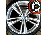 "19"" Genuine BMW M Sport 3ser 4ser alloys staggered excel cond excel tyres."