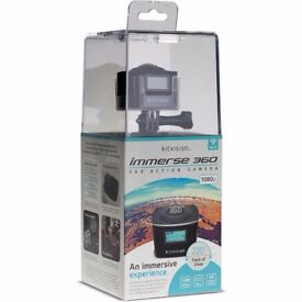 Black Friday! 360 VR Action Camera, Waterproof (30m), 1080p HD, WiFi, Accessories Included RRP £199