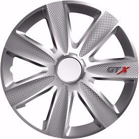 "16"" Wheel Trim GTX Carbon set of 4 - Sakura GTXCARBON16 Universal Fit"