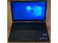 "Lenovo Ideapad 100-15 Laptop - 15.6"", 500GB HDD, 4GB RAM, Windows 10"