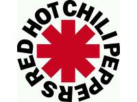 3 x Standing Tickets FACE VALUE for the Red Hot Chili Peppers Glasgow SSE Hydro